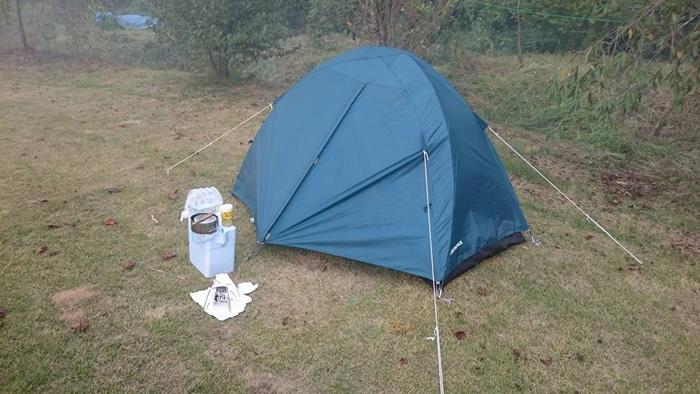 テントを張ってがんばってくれました。